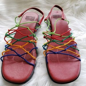 Mootsies tootsies colorful sandals womens size 9